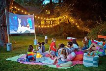 Outdoor Movie Night Ideas / Now playing on a lawn near you: a party that celebrates summer, cinema, and community all under the stars.