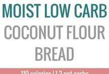 Gluten free coconut breads and low carb