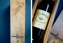 NATURALLY CHIC WINE BOXES Banff Wedding Decor / Custom designed wedding wood wine boxes and time capsules for your wedding made by Banff Wedding Planner, Naturally Chic.