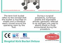 Hospital Kick Buckets / The term kick bucket refers to the concept that the bucket is mounted on wheels and is therefore easily moved around the operating room by the foot.