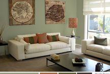 green living room / inspiráció a nappali átrendezésére