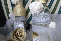 Winne Bottles wedding decoration
