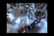 Whitmanville Christmas Village / My Village that we put up in our home town Train Depot. Our Train Depot event is called Christmas on the Rails. Its is a real working depot. Also a museum. The whole town gets involved. I love showing my village to these wonderful people. The Children  faces  just light up. I love it. / by marie whitman