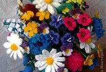 цветы крючком