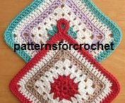 CROCHETED POT HOLDERS ARE IT! / crocheted pot holder ideas
