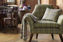 Abraham Moon Fabrics / Abraham Moon woolen fabrics, woven in the UK, available from Vanilla Interiors  www.vanillainteriors.co.uk