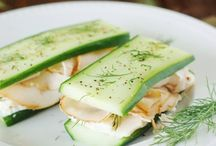 Food / Low carb cucumber sandwiches instead of bread... Boom!