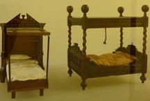 Antique dollhouse furniture