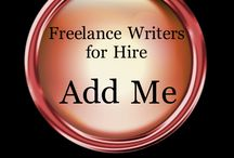 "! Freelance Writers for Hire / ** This board is under construction.  If you would like to be added as a contributor and showcase your articles or services please contact https://twitter.com/Bea_Wellman or leave a message on the ""Add Me"" Pins.""   / by Bea Wellman"