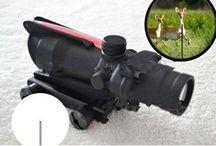 GOWE New ACOG 4X32 Red Fiber Optic Triangle illuminated Rifle scope 4x magnification