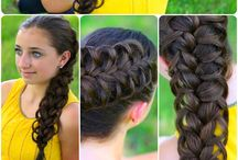 Hairstyles / Many lovely hair styles that can be done easily.