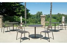 FORO Tables and Chairs / The #FORO Table and Chair series presents a clean, contemporary style developed to stand alone or combine with other #Maglin furnishings within interior and exterior spaces. Foro is constructed of cast aluminum and steel to deliver durability to stand the test of time. The Series is available in a variety of colors to complement any setting.