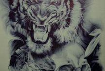 тату тигры