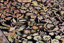 """Gardens of Paradise design / As the month for love turns into the month of color, we invite spring into our homes with our """"Gardens of Paradise"""" collection. Scenes of bliss, tranquility, of nature lush in all its splendor and magnificence, all year round.""""  Art for your floors; exquisitely hand crafted with only the finest luxury wool and silk, only at The Carpet Cellar, New Delhi.  #ArtForFloors #ExquisitelyHandcrafted #PashminaCarpets #TheCarpetCellar"""