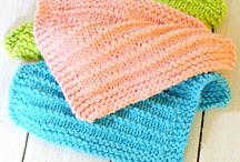 Knitting dishcloth