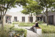 Courtyard / Courtyards by aarhus arkitekterne