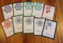 Weihnachtskarten / Meine selbst erstellten Weihnachtskarten
