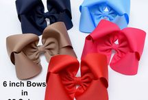 Large Hair Bows / Big bows for girls. These large bows are a great final touch for very outfit.