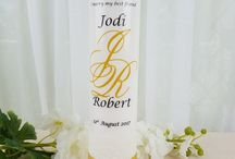 Personalised Ceremonial Candles / Personalised candles are a beautiful addition to any event.