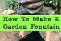 create garden fountain