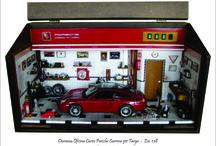 Diorama Oficina Porsche 911 TARGA