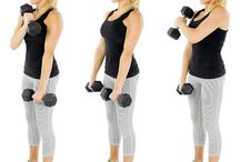 Ejercicio de pesas para brazos