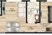 casa de tres metros