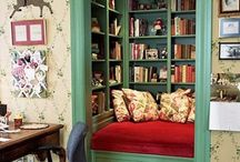 Bookshelves & Reading Nooks / Creative spaces to keep that huge To-Be-Read stack!