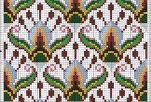 grilles pour tricot fleurs plantes