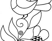 Folk art painting birds/animals