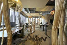 Design office with plants