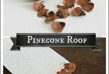 Fairy roof pinecone