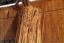 玉露の覆いになるよしずの作り方 / ヨシを縄で編んで、よしずを作ります。 京都府宇治市白川の茶業研究所で体験してきました。 2013-02-13