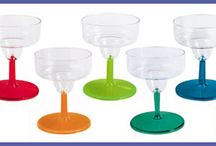 Personalized Mini Martini and Margarita Samplers / These mini samplers are adorable!  Leave them blank or personalize them.  You can even choose from a variety of stem colors to match any setting.  Each one is manufactured and printed in the USA.