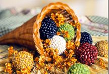 """*AUTUMN ~ FOOD & DECOR / I love Fall because it's the time to """"finish up""""... harvesting the garden and the heat of the summer. It's a time to get into another rhythm, a much slower one then Spring and Summer provides us. It's like a before bed routine... a time to bring out the fuzzy blankets and snuggle in with a warm cup of something and a good book, movie, or craft project. Enjoy."""