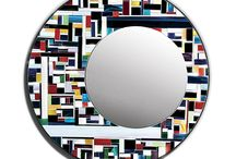Eclipse and Disco / Colourfull mirror inspired by contemporary art