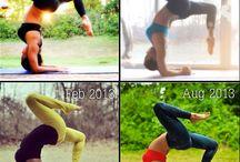 før og etter yoga