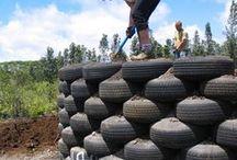 Muros de contención y reciclaje de neumáticos