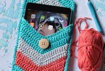 crochet phone cosies