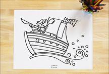 Imprimibles para niños / Printable for kids / by Cosas Molonas