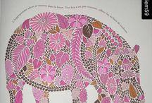 Lila-pink hippo