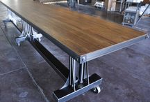 Tables industrial/wood