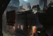 cyberpunk landscapes