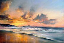 пастель море