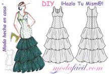Patrones vestido flamenca