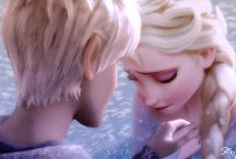 Jack Frost and Queen Elsa / I like to think these two are friends, since they have a lot in common, including both being lonely. I created a board for them since the fanart is so pretty!