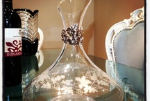 Crystal bottle / Crystal with silver 925%