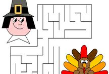 Thanksgiving Kids Printables  / Thanksgiving Coloring Pages, printables, activity sheets, connect-the-dots, mazes, word search and more.