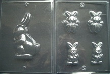 Kids Easter moulds / A selection of mini Easter moulds for kids with ribbons, lolly sticks, foils and bags...