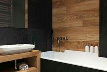 Bad mit Holz